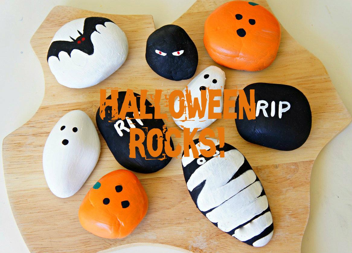 Halloween rocks bebe and bear - Childrens halloween decorations ...